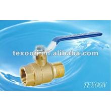 Full bore threaded brass ball valves(female thread*male thread) Manual