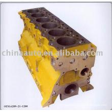 Engine cylinder block casting for komatsu pc200-5