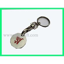 Trolley Coin Chain, Metal Trolley Coin (E-TC017)