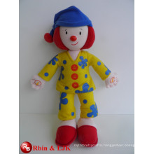 Meet EN71 and ASTM standard ICTI plush toy factory clown plush toy
