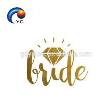 Золотая Команда Невесты Временные Татуировки Хной Боди-Арт Свадьба Аксессуары Фейк
