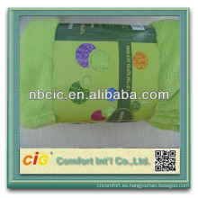 Mantas de lana Super suave barato de Color sólido de suave paño grueso y suave en Stock