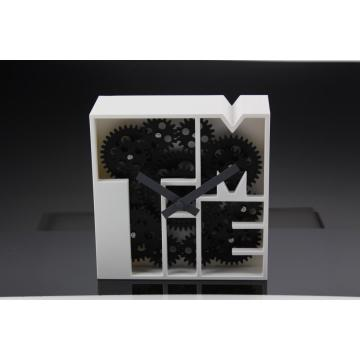 Metallgeometrie Gear Desk Clock