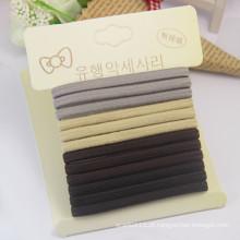 Cartão de alta qualidade embalado flat 5 milímetros hairbands de borracha elástica (je1575)