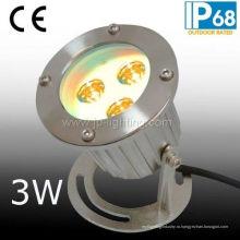 С ip68 3W СИД подводный свет пятна
