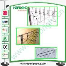 Accesorios de metal Slatwall Hook y tienda