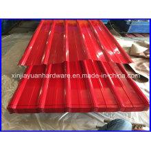 Feuille d'acier ondulé pré-peintée de haute qualité pour la construction