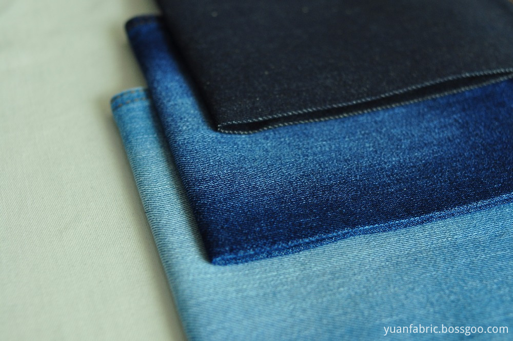94100% Cotton Warp Slub Denim Fabric