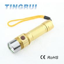 High quality led aluminium multifunctional flashlight