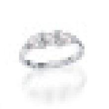 Natürliche Frischwasserperfekt Runde Perle Echtes 925 Sterling Silber Schwimmdock Charms Ehering für Frauen Edlen Schmuck