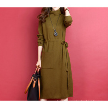 PK18ST077 tunic long women dresses sweaterfashion dress cashmere sweater