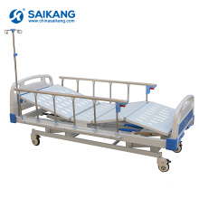 SK014 3 Function Hospital Cranks Manual Medical Bed With ABS Headboards