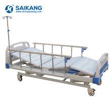 SK014 3 функции шатуны больницы Механическая медицинская кровать с ABS спинками