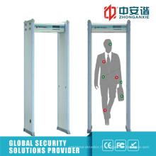 Écran LCD 50 Bandes de travail Intelligent Alarm Metal Detector Gate