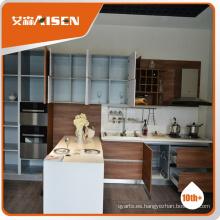Mueble profesional de diseño de moldes gabinete de cocina de madera, gabinete de cocina moderno hecho en china