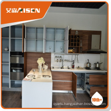 Professional mould design wood kitchen cabinet,modern kitchen cabinet made in china