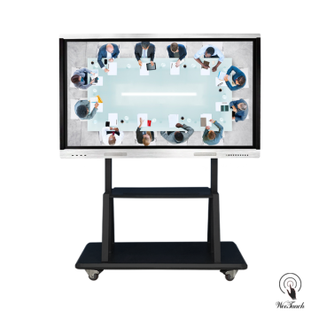 75-Zoll-All-In-One-Multitouch-Panel mit mobilem Ständer