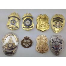 Custom High Quality Soft Enamel Metal Gold Silver Police Badge