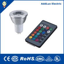 Projecteur à LED 5W Gu5.3 ou GU10 COB Télécommande LED