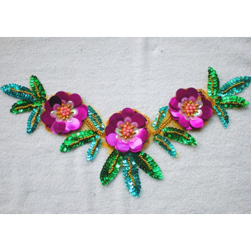 Nice design beaded rhinestone patches