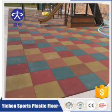 High density outdoor rubber mat for kids