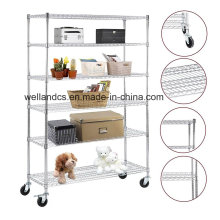 NSF Commercial 6 Tiers Heavy Duty Steel Lee Rowan Wire Shelving