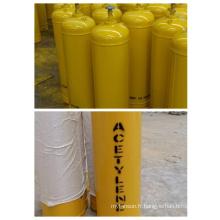 Cylindre de gaz d'acétylène à haute pression