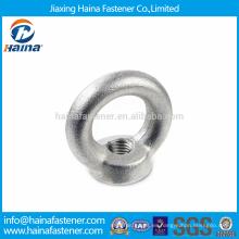 Stock Mejor Precio DIN582 Acero al Carbono Caliente Dip Galvanizado Eye Nuts