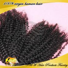 Usine directe excrétion libre en gros humain remy cheveux afro kinky bouclés clip dans les extensions de cheveux