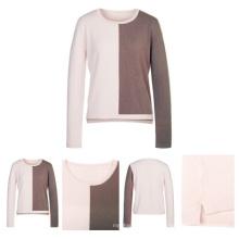 Half Colors Ladies Unique Design Cashmere Sweater