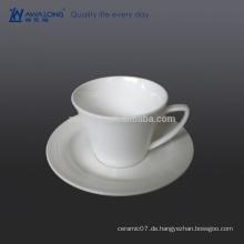 0.2L Herz-Form-keramische Kaffeetasse mit Halter, Großhandelskaffeetasse und Untertasse