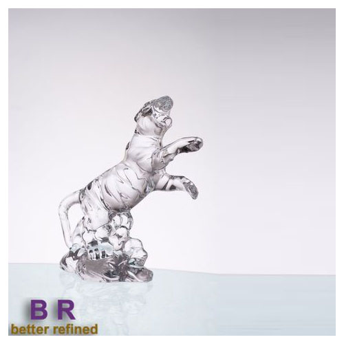 Br 5202glass Tiger Decoration Hand Made Crystal Ornaments