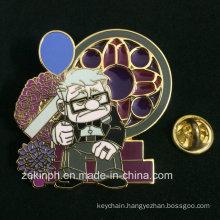 Transparent Soft Enamel/Imitation Hard Enamel Metal Badge