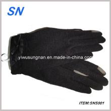 2013 Fashional Touchscreen Fur Wrist Mancos Luvas