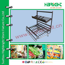Supermarkt Metall schwarz Display Rack für Obst und Gemüse