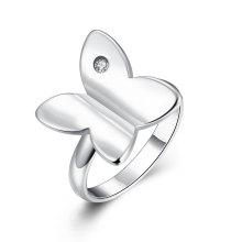Silber überzog Zircon-Ring-Art- und Weiseentwurf Heiße Verkaufssilber-Frauen-Ringe