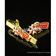Gold überzog 3d Flugzeug-Logo-Krawatte Clip