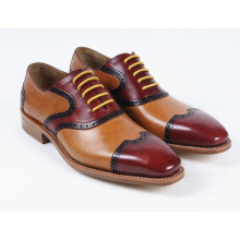 Three Color Genuine Leather Mens Business Flat Shoes (NX 431)