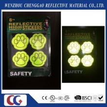 PVC-populärer Hundetatzen-Sicherheits-reflektierender Aufkleber