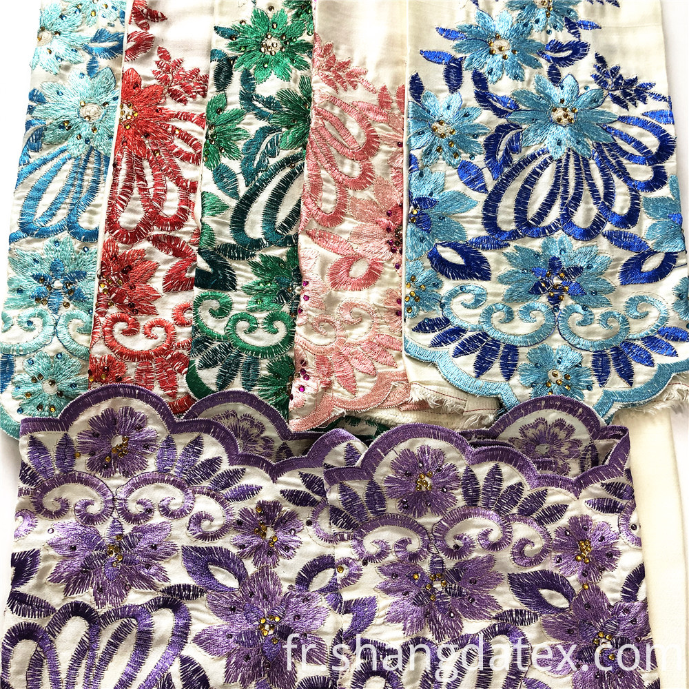 Rayon Satin Pd With Embroidery