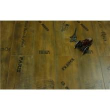 Plancher stratifié tressé cannelé par V-cannelé de noix de perle de 8.3mm de Commrcial