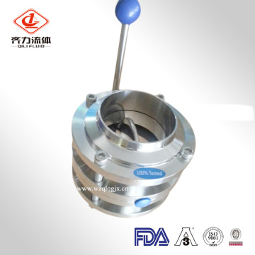 Sanitary Stainless Steel Three PCS Butterfly Valve