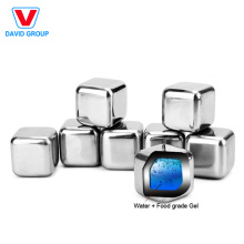 Certified Top Supplier Wholesale Custom Set Of 6 Stainless Steel Chilling Ice Cubes