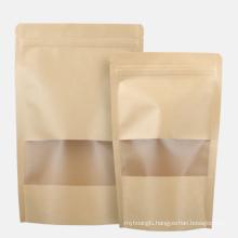 Flexo printing triangle eco friendly medicine customization closer plant kraft paper bag wholesale
