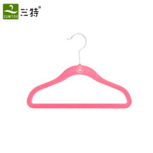 plastic flocking light weight children clothes hanger