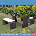 Material de aluminio Rattan & Wicker Outdoor Sofa Set