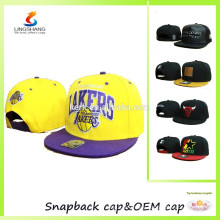LSCP-19 Design your own fashionable embroidery snap sports headwear hip top baseball hats and snapback caps
