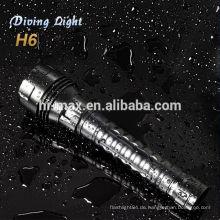 2013 neue Produkte für Tauchen Taucher Taschenlampe cree xm-l t6 LED-Suchscheinwerfer