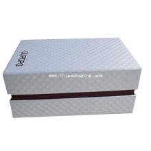 Black Foil Stamping Shoe Packaging Caixa de papel