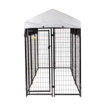 Wholesale large outdoor welded chain link fence dog cage kennel/large outdoor dog fence